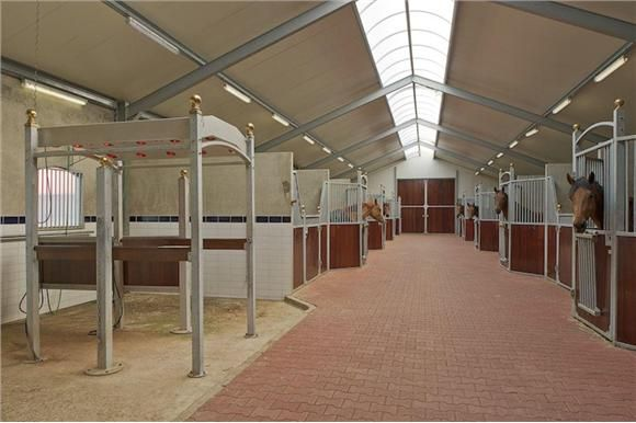 Light, Clean And Airy Interior Of Modern Horse Stable Barn. | Dreaming Big  | Pinterest | Barn, Horse And Cleaning