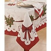 Homewear Table Linens, Christmas Peace and Joy Collection