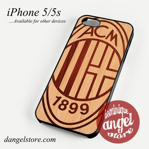 ac milan wood Phone case for iPhone 4/4s/5/5c/5s/6/6s/6 plus