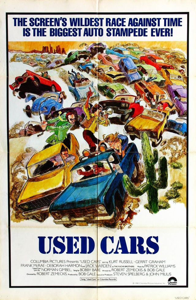 1980 Used Cars Used Cars Movie Cinema Posters World Map Poster