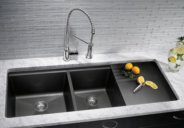 Blanco Silgranit Kitchen Sinks - kitchen sinks - houston - Westheimer Plumbing & Hardware-WONDER IF THEY MAKE THIS IN PORCELAIN OR STAINLESS?