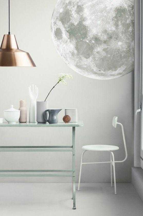 Papier peint lune wear lemonade diy lune pinterest for Papier peint sur un seul mur