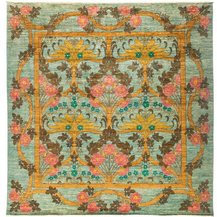 Green Eclectic Area Rug, Solo Rugs | 1stdibs.com
