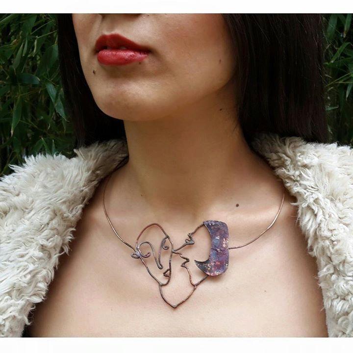 Lovers necklace by hilalkosovali on Etsy