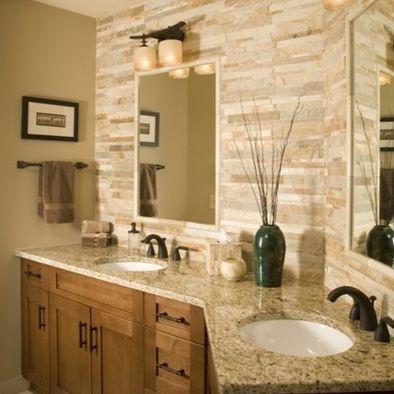 17 best images about kitchen backsplash on pinterest for Tumbled marble bathroom designs