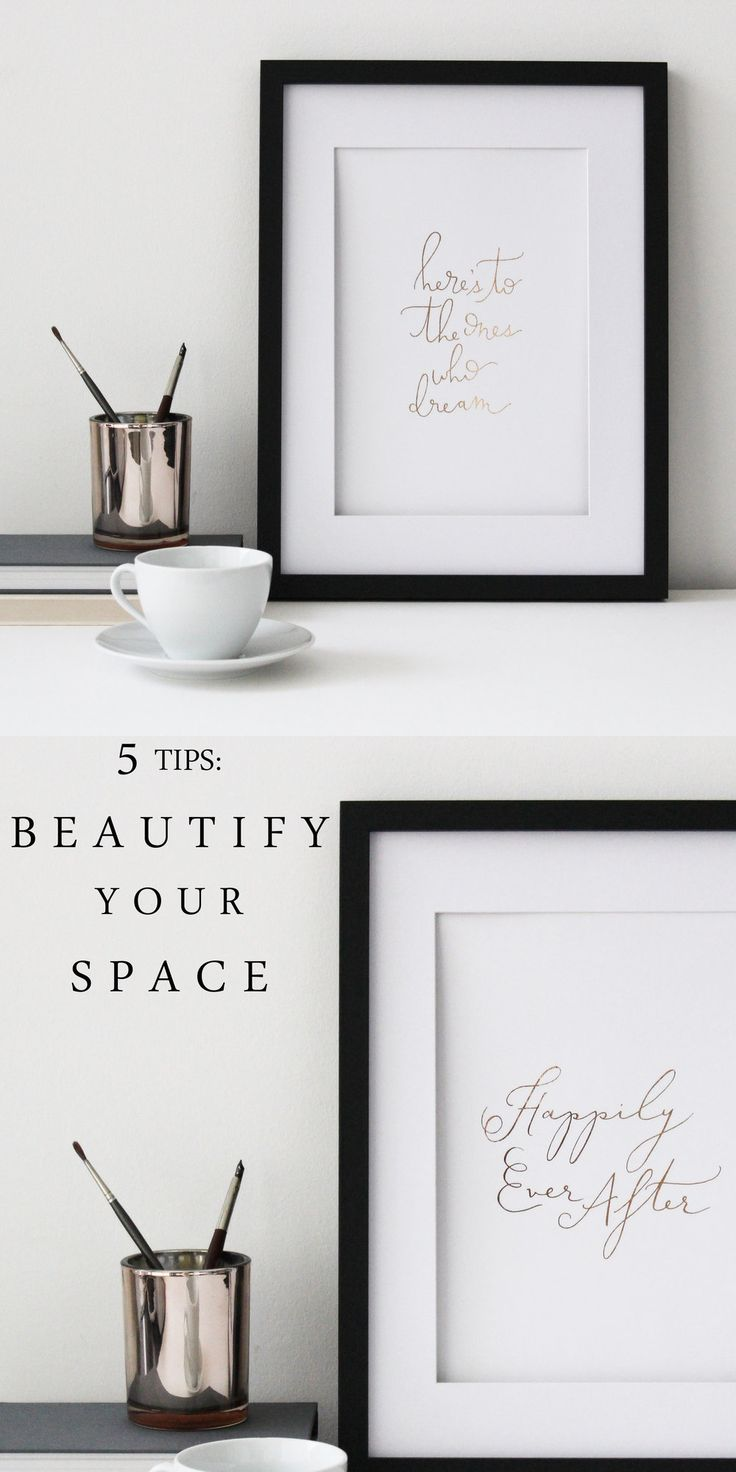 Rose gold foil art prints, perfect for any space! Hand-lettered and made in England by Sonni & Blush Paper Co.
