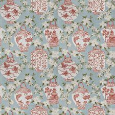 Coral Reef Asian Drapery and Upholstery Fabric by Trend
