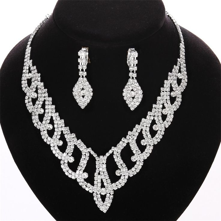 High Quality  Fashion cheap crystal necklace for wedding Jewelry  sets DS010