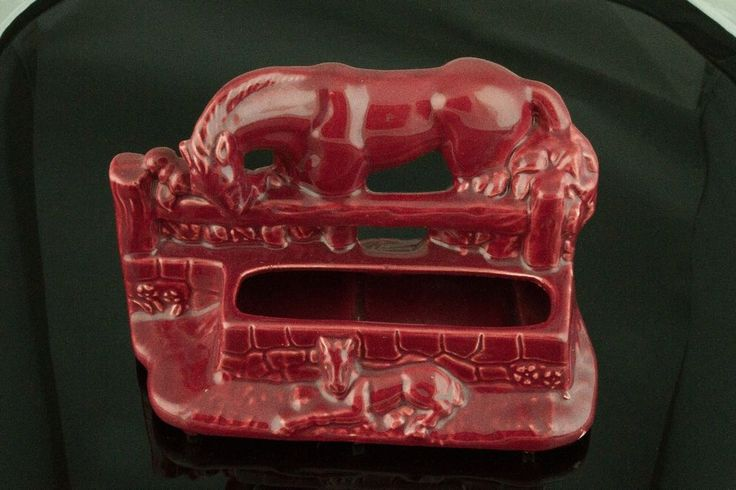McCoy Ceramic Pottery, Mare and Colt Planter - Red | Pottery & Glass, Pottery & China, Art Pottery | eBay!