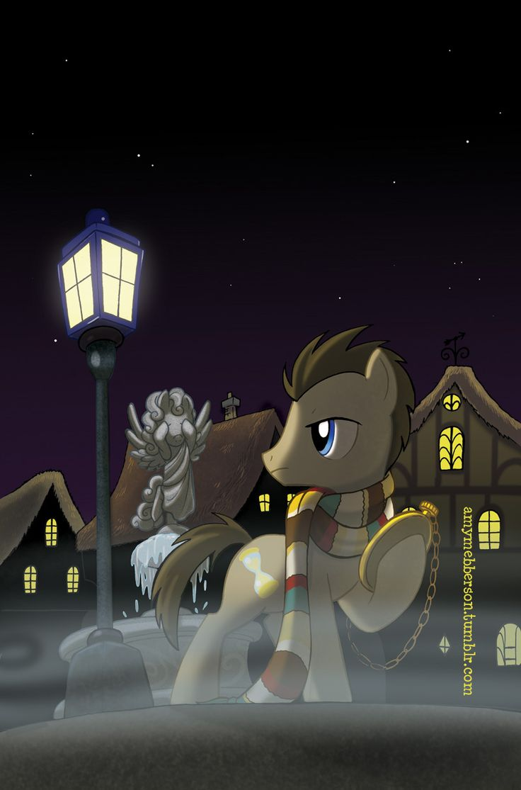 Doctor Whooves. And look at the tardis lampost. Oh yeah, and don't blink!