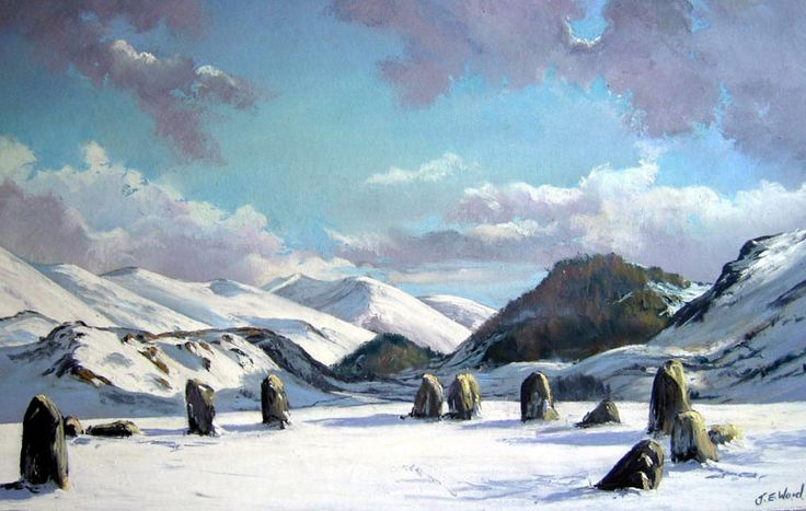 Castlerigg Stone Circle Print by Jane Ward