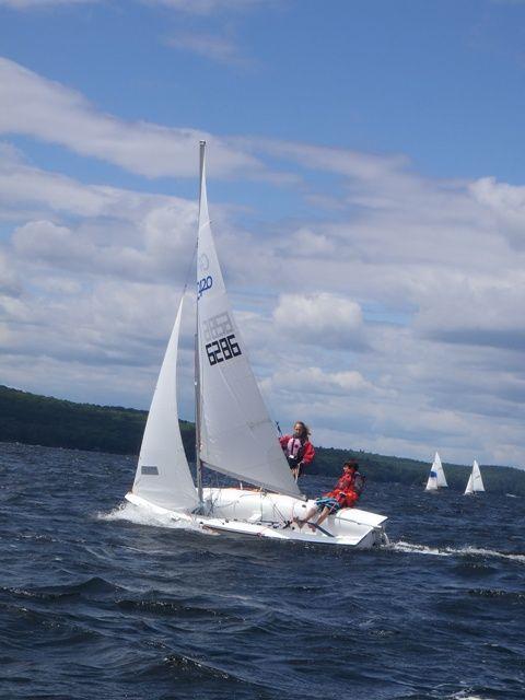 Sailing from Lake of Bays Sailing Club.