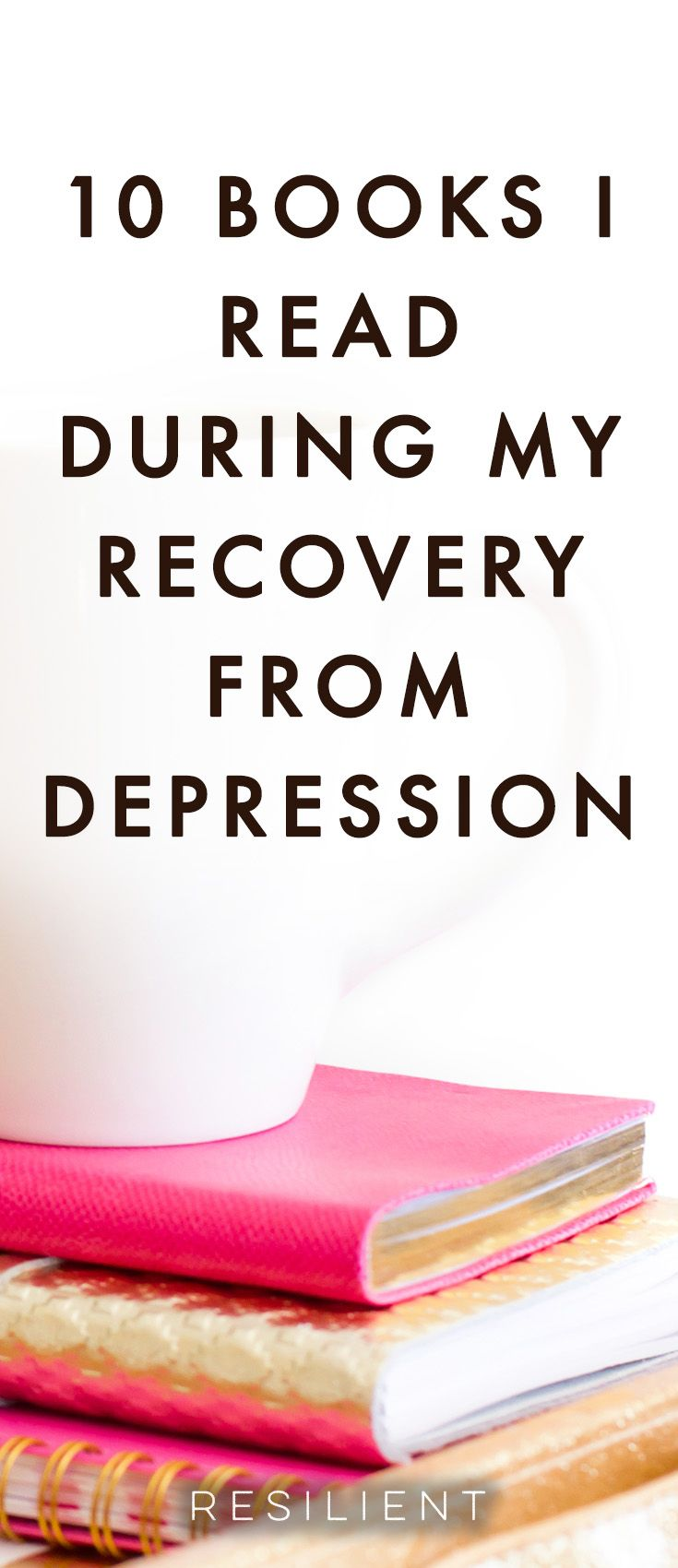 I was reading through old notes on Evernote the other day and I stumbled across a list of books I read during my recovery from depression.  By that I mean the time after coming home when I had nothing better to do with my time than actually get better, so that's what I did.  Here are 10 books I read during my recovery that I found to be helpful (there were more books, but I didn't include them if they weren't good :)). #depressionbooks #depression #depressiontips #depressed