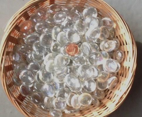 Bille plate transparente nacré - Achat de bille plate translucide , bille chinoise pour mosaique