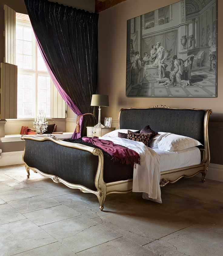 Louis xv bed in black silk from and so to bed sumptuous for And so to bed