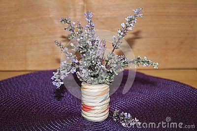 Wild lavender in the vase of flowers