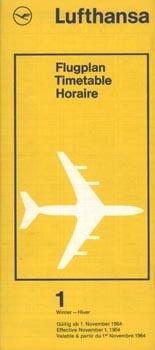 Lufthansa Timetable, 1964