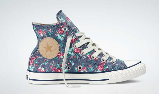 Floral  Converse {yay!} I saw these at the converse store