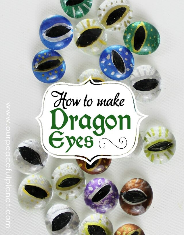 How cool are these DIY dragon eyes? Via @ OurPeacefulPlanet #flatmarbleprojects