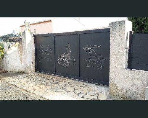 1000 id es sur le th me portail coulissant sur pinterest for Dessin portail fer forge