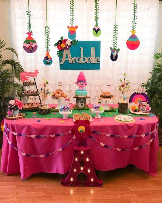 Trolls Birthday Party Ideas | Photo 1 of 29