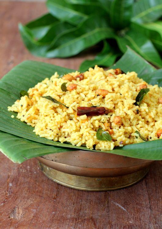 'Puliyodharai' ~ Tamarind Rice [Tamil-Style]