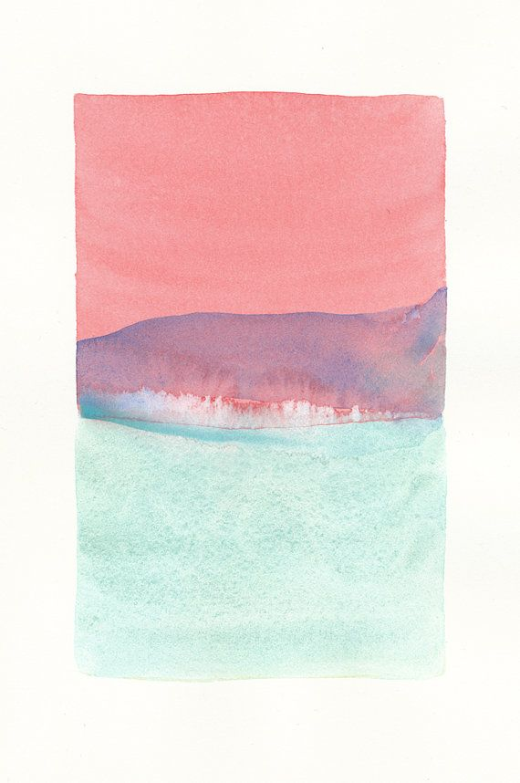 small original watercolor icy color form - Malissa