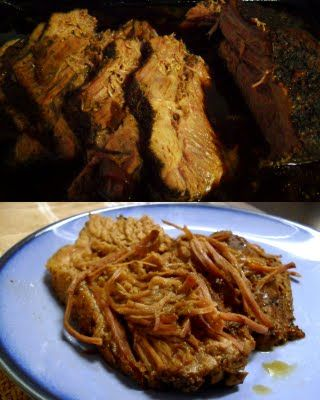 Oven baked beef brisket. Follow recipie... I put too much pepper cause ...