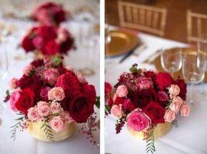 casamento vermelho com rosa