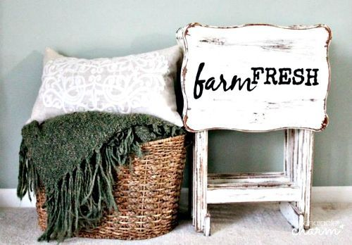why old tv trays are the new mason jars 11 reasons , painted furniture finishes, repurposing upcycling, Create farmhouse folding tables