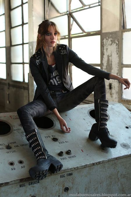 Estilo Grunge de los años 90 vuelve y se reinventa en esta nueva colección Tucci otoño invierno 2014-