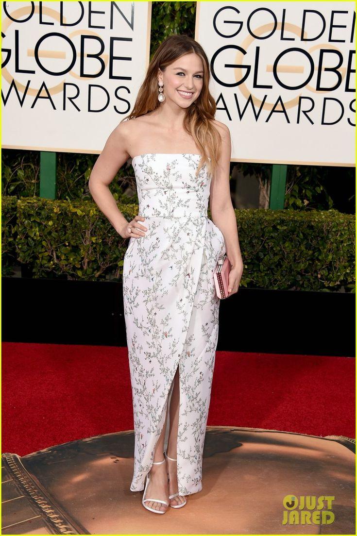 Melissa Benoist Brings Blake Jenner to Golden Globes 2016