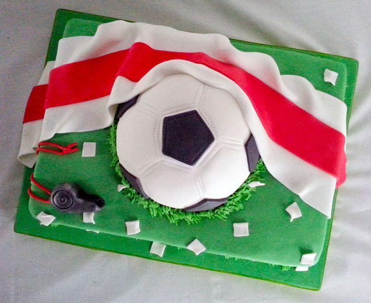 Torta Futbol River Plate - Futbol Soccer Cake