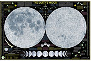 Earth's Moon [Tubed] (National Geographic Reference Map)