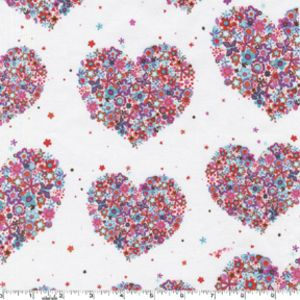 Hearts and Flowers in Berry