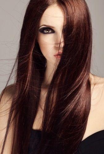Une coloration d 39 automne pour les filles - Brune reflet acajou ...