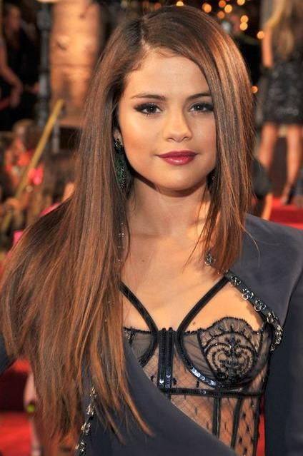 awesome Selena Gomez With Long And Brown Hair Color Pictures