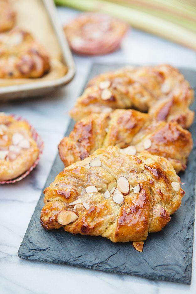 Rhubarb Almond Danishes Recipe   FoodforMyFamily.com