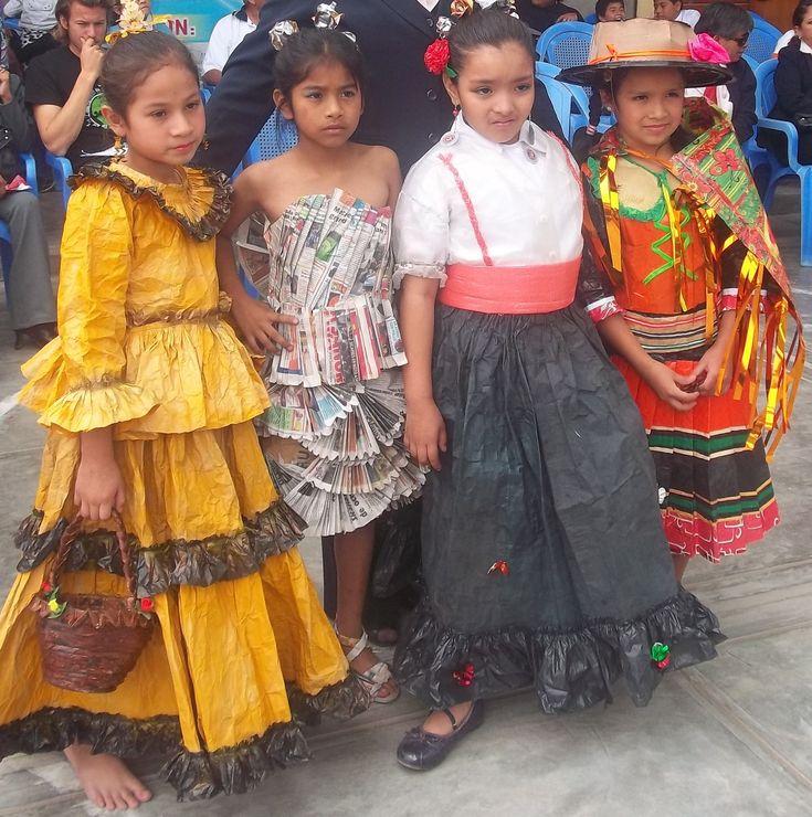 Vestido reciclaje para niñas