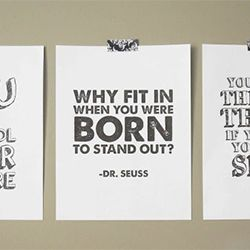 "Download these free inspiring quotes from Dr. Seuss - free printable posters in 8.5"" x 11"" size. I <3 Dr. Seuss"