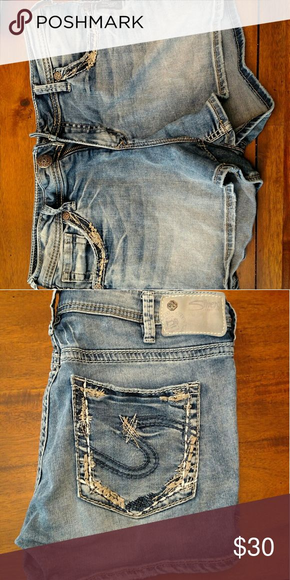 Women silver shorts Sliver shorts worn once Silver Jeans Shorts Jean Shorts
