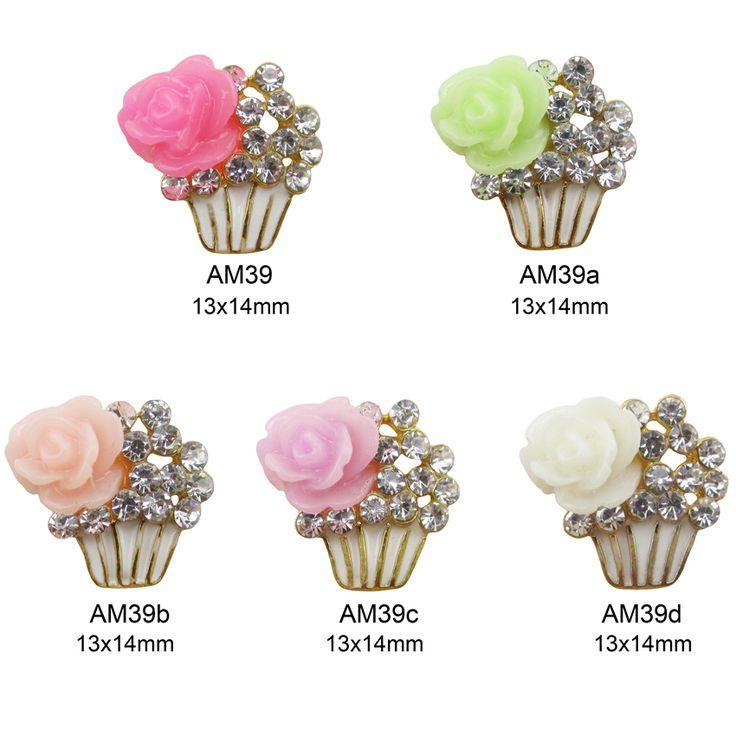 10 stücke Cupcake nail art schmuck 3d nail charms DIY kunst und handwerk neue nageldekorationen AM39