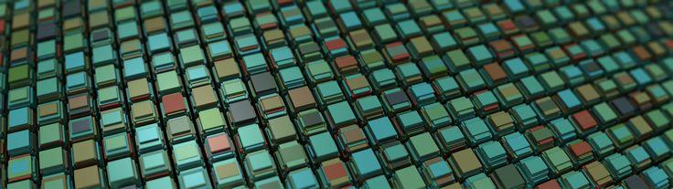 General 3840x1080 pattern abstract procedural generation 3D Mandelbulb 3D cube geometry
