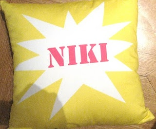 Niki B personalised pillow by Koki design