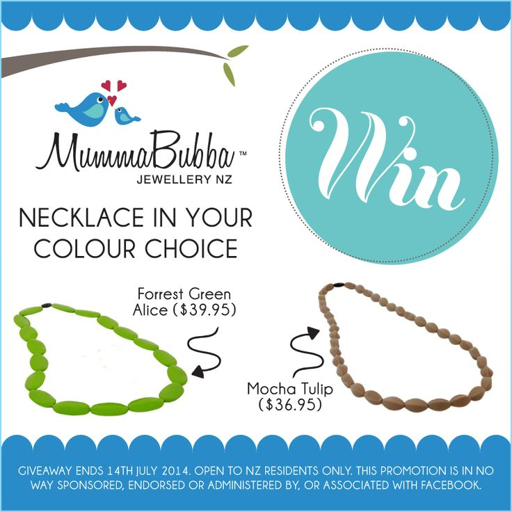 Enter to win: MummaBubba Necklace   http://www.dango.co.nz/s.php?u=KRiTSXQw1997