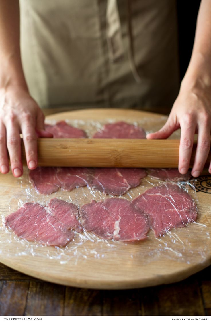 How to make beef Carpaccio! We show you how, here ---> http://www.theprettyblog.com/food-and-wine/beef-carpaccio-mustard-parmesan-sauce/ | Text & Recipe: Ilse van der Merwe | Assistant: Elsebe Cronje | Photography: Tasha Seccombe Photography