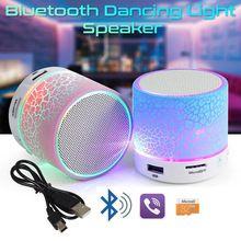 Portáteis Speakers Mini Bluetooth Sem Fio LEVOU Pequeno Som Estéreo Áudio Música TF USB Speaker Luz Com Mic Para O Telefone Xiaomi(China)