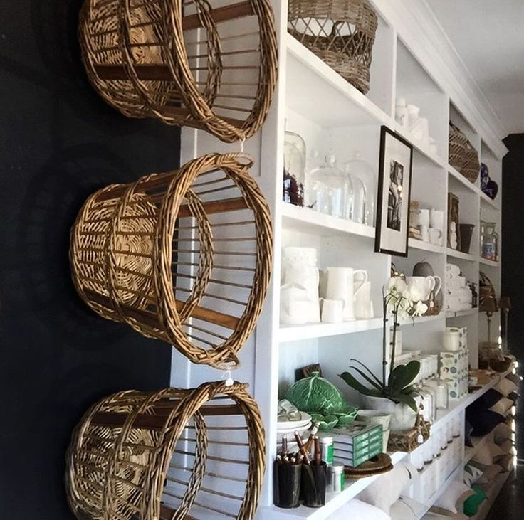 Our RG Baskets are literally climbing up the wall in store Harolds Finishing Touches! www.rgimports.com.au