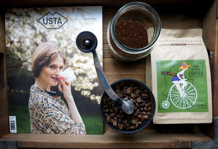 fresh coffee & USTA Magazine...perfect match