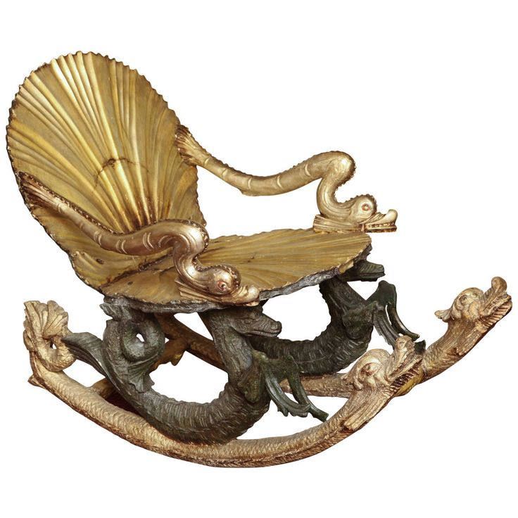 Fine Venetian Fratelli Testolini Grotto Silvered Rocking Chair With Animal  Figures | From A Unique Collection